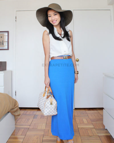 How to Style: The Maxi Skirt (& Petite Fashion Challenge #14)