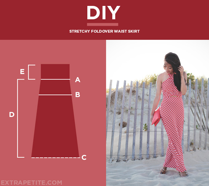 Tutorial Easy Fold Over Waist Skirt Using Stretchyknit Fabric