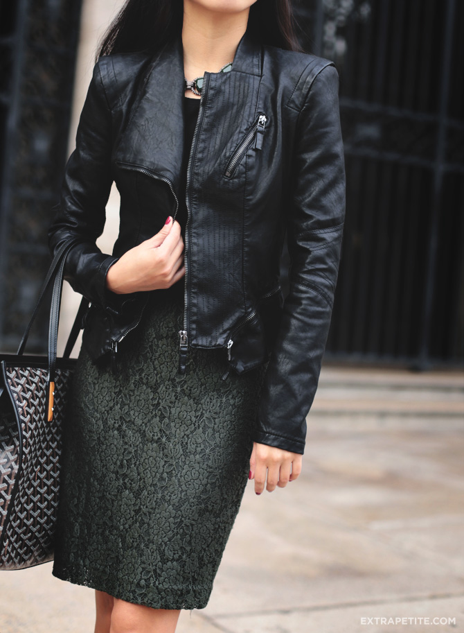 faux leather and lace1