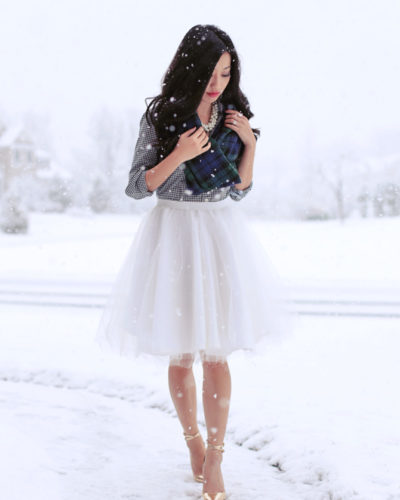Holiday Tutorial: DIY Full Circle Skirt with Tulle Overlay