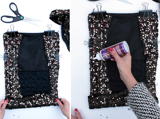 DIY sequin clutch 2