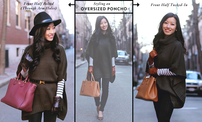 How to style a poncho sweater   gloves for short fingers - Extra ...
