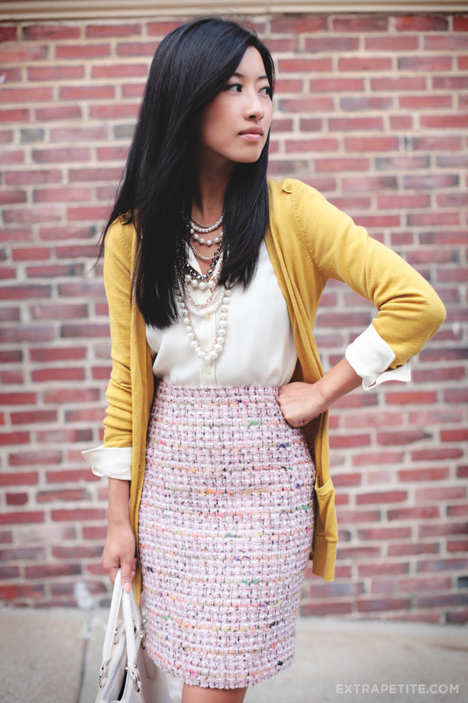 pink tweed and mustard2