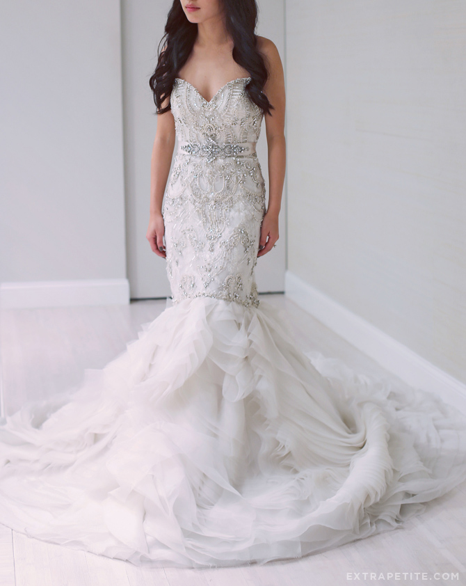 lazaro bridal gown fit flare dress copy