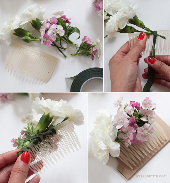 DIY flower crown floral comb tutorial bridal2
