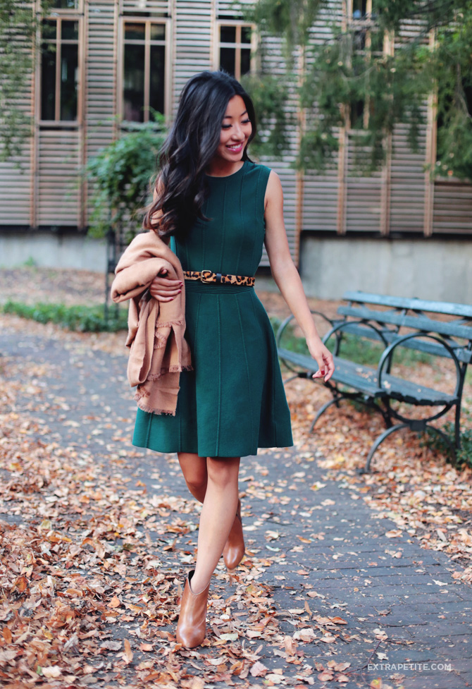 sweater dress ankle boots outfit