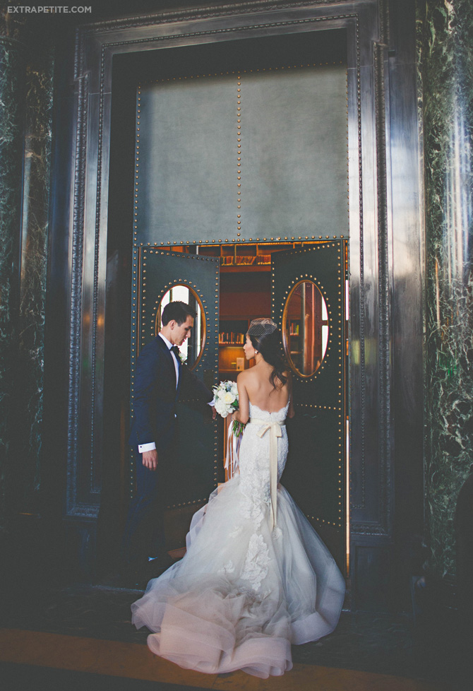 boston library wedding lazaro gown