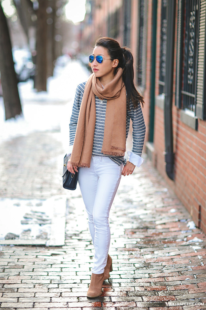 striped sweatshirt lou gray petites casual outfit