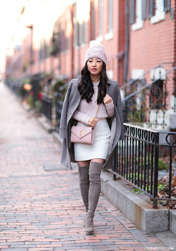 Boston winter outfit stuart weitzman highland jcrew lady day coat