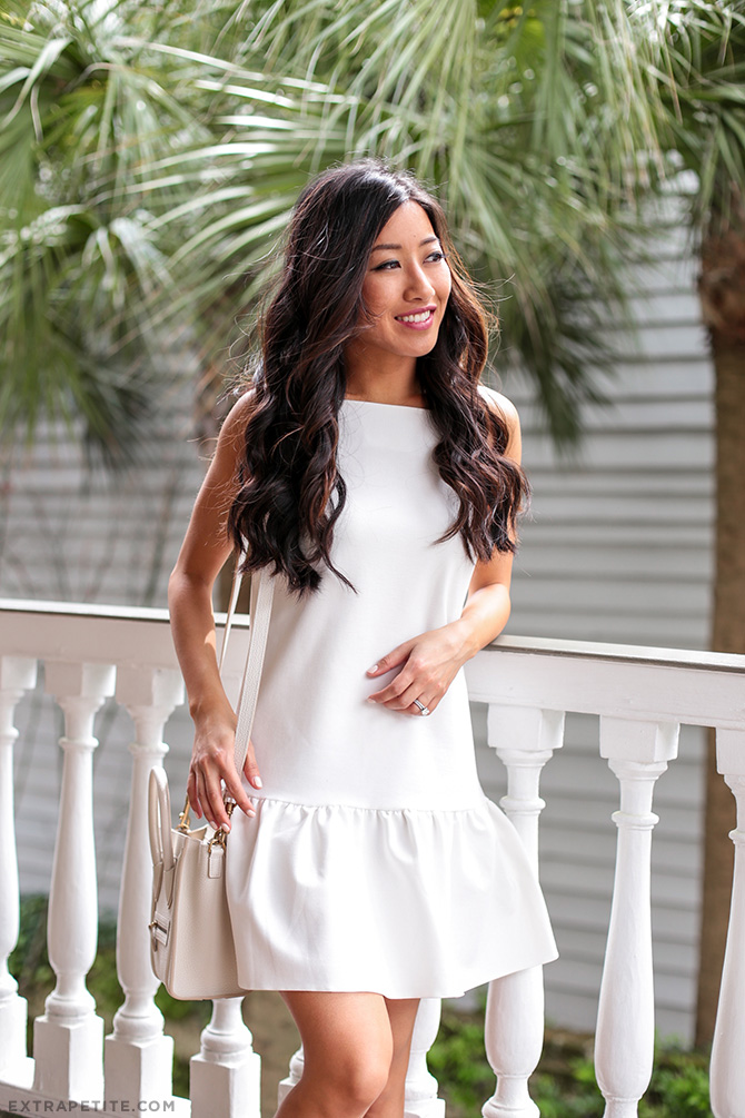 white ruffled dress spring outfit charleston
