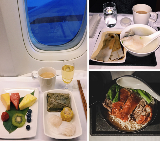 cathay pacific business class food hong kong dim sum