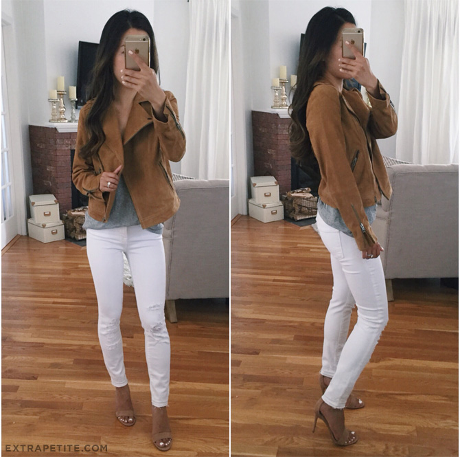 sun shadow tan brown suede moto jacket nordstrom sale petites