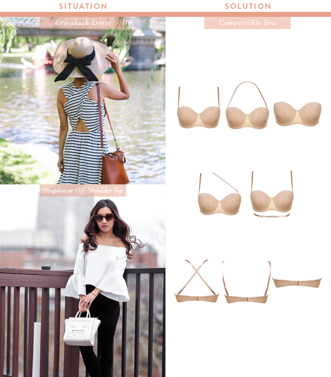 convertible bra_what to wear under a strapless off shoulder top