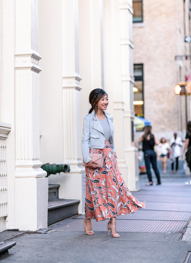 fall outfit midi skirt moto jacket_extra petite nyc