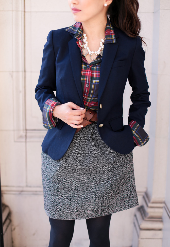 blazer office christmas holiday party outfit extra petite boston blog