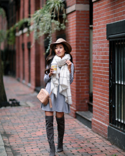 Casual Gray + Camel Layers (& Weekend Sales!)