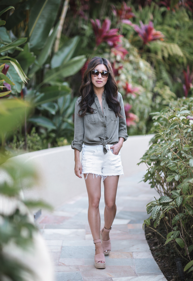 stylish petite outfits express denim shorts review