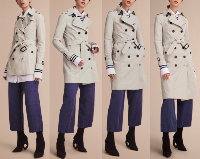 burberry heritage womens trench coat different lengths