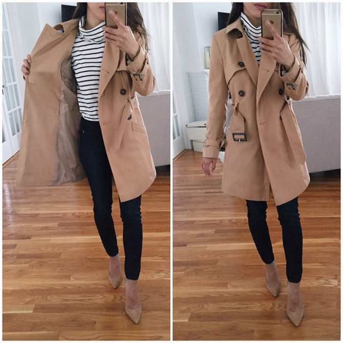 asos petite affordable trench coat review