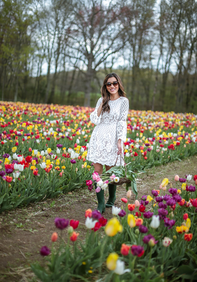 green hunter boots style preppy new england fashion blog