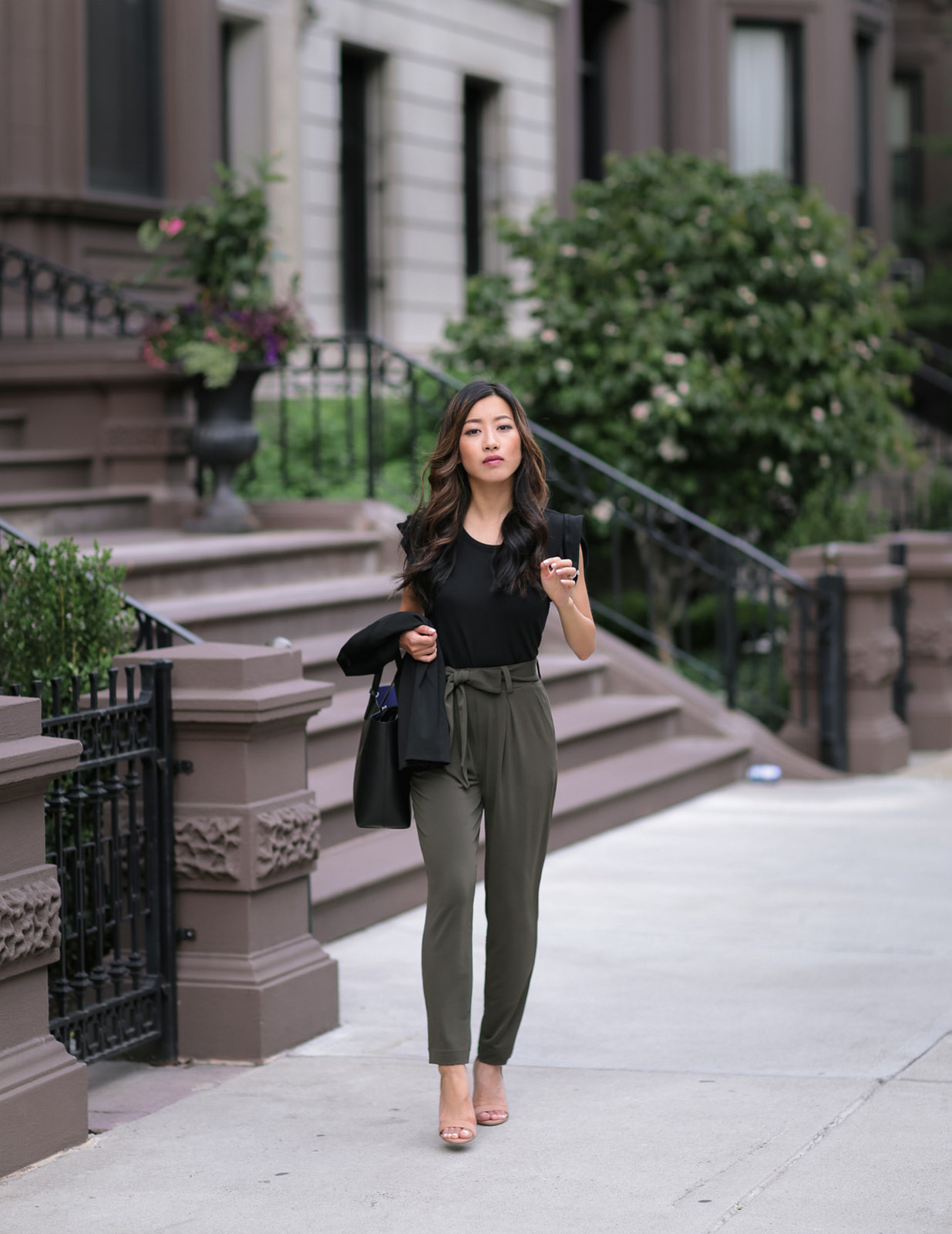 peg crop ankle pants boston petite fashion blog