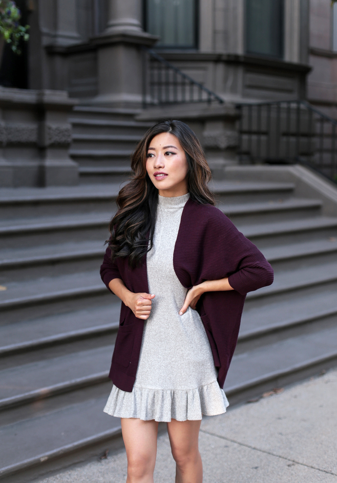 burgundy cardigan sweater petite clothing blog