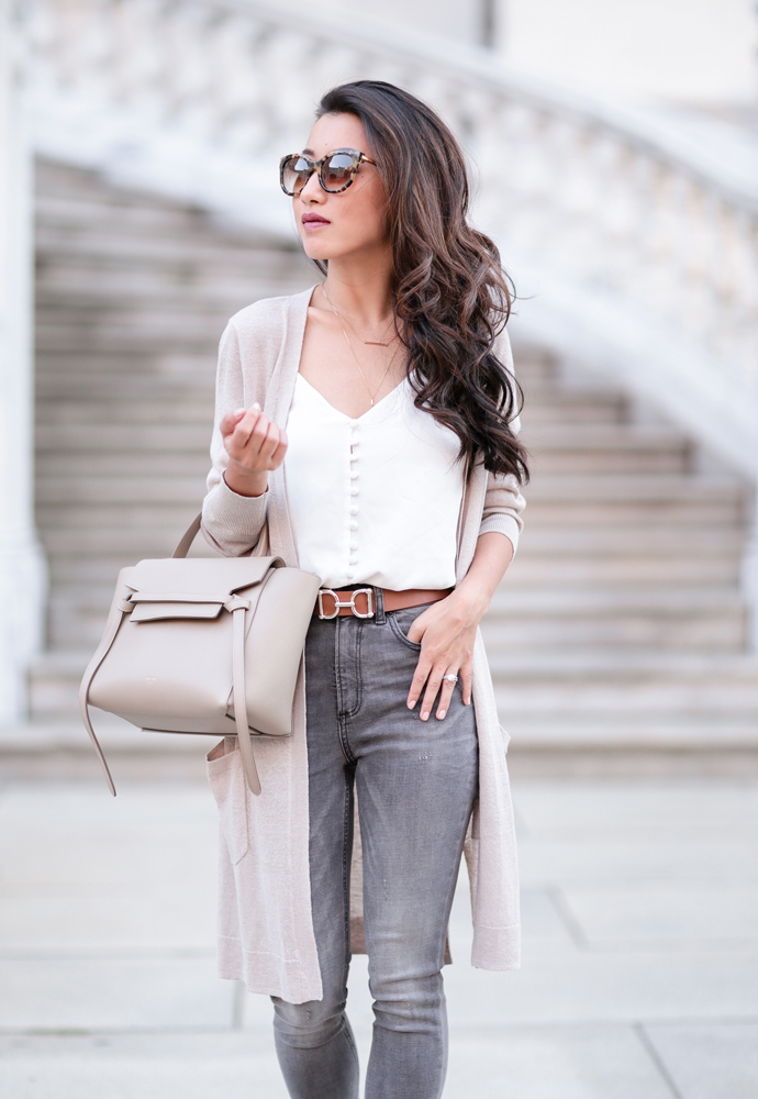 stylish fall outfit ideas petite fashion celine purse