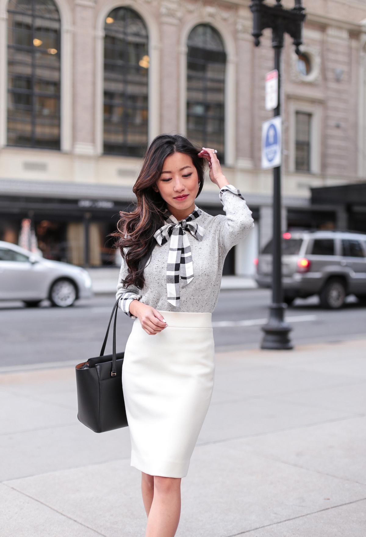 what to wear to work in the winter_wool pencil skirt