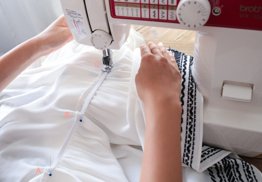 DIY alteration: how to add a partial elastic waistband